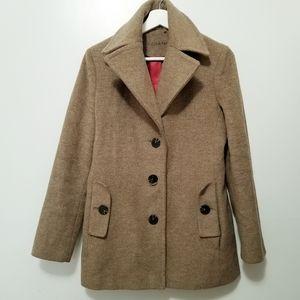 CALVIN KLEIN Peacoat Coat Brown sz 4 - K2